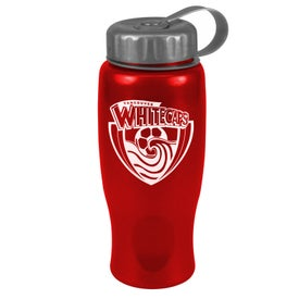 ShimmerZ Sport Bottle with Tethered Lid for Your Organization