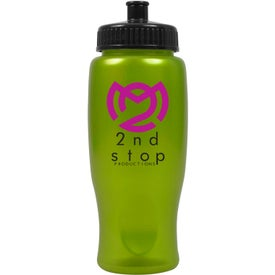 Monogrammed ShimmerZ Sport Bottle with Push Pull Lid