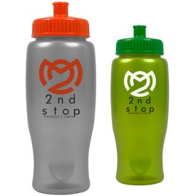 Customized ShimmerZ Sport Bottle with Push Pull Lid