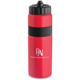Personalized Sierra Sure Snap Plastic Water Bottle