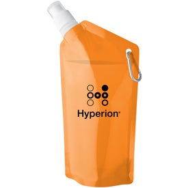 Logo Sip and Store Collapsible Water Bag