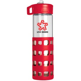 Sip 'n Go Glass Water Bottle Printed with Your Logo