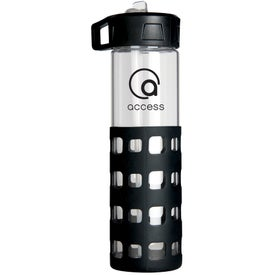 Sip 'n Go Glass Water Bottle Imprinted with Your Logo