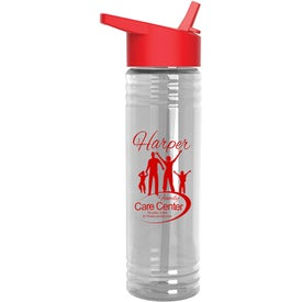Slim Fit Water Bottle with Flip Straw Lid (24 Oz.)