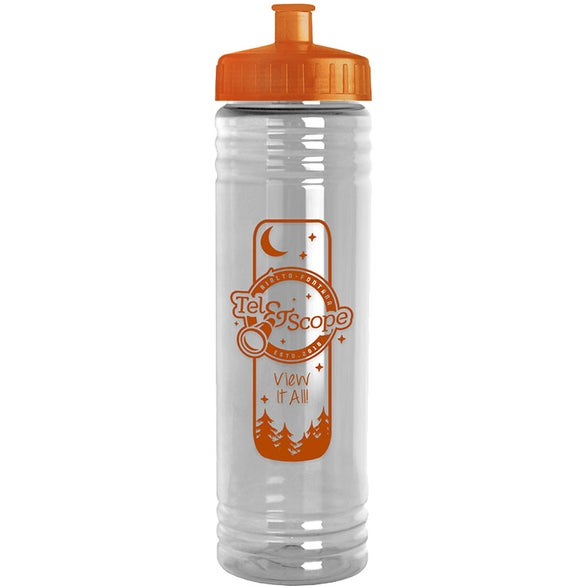 Slim Fit Water Bottle with Push-Pull Lid (24 Oz.)