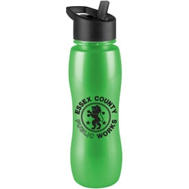 Slim Grip Metalike Bottles with Flip Top Lid (25 Oz.)