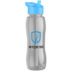Slim Grip Tritan Bottle with Flip Straw Lid Printed with Your Logo
