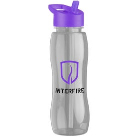 Slim Grip Tritan Bottle with Flip Straw Lid with Your Logo