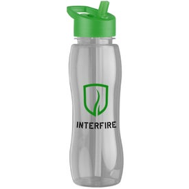 Slim Grip Tritan Bottle with Flip Straw Lid for Your Church