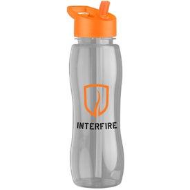Imprinted Slim Grip Tritan Bottle with Flip Straw Lid