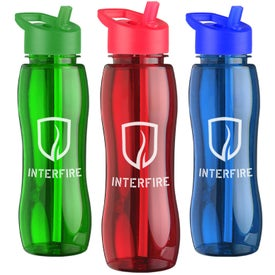 Branded Slim Grip Tritan Bottle with Flip Straw Lid