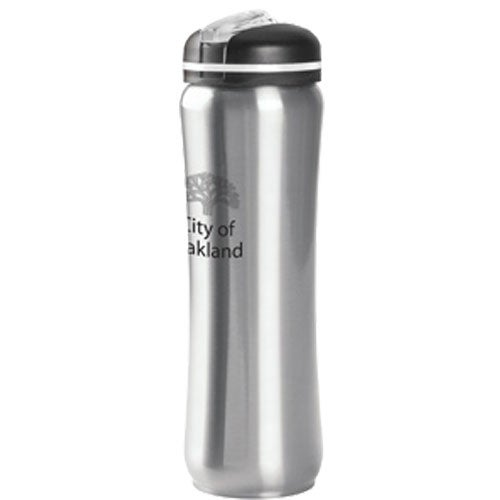 Silver Slim Stainless Water Bottle (28 Oz.)