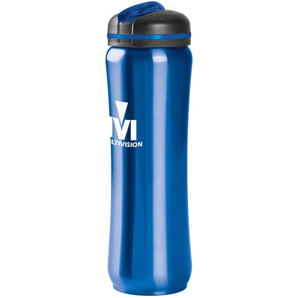 Blue Slim Stainless Water Bottle