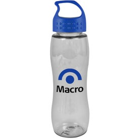 Poly Pure Slim Grip Bottle with Crest Lid Branded with Your Logo