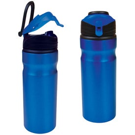 Aluminum Water Bottle With Snap Cap for Your Organization