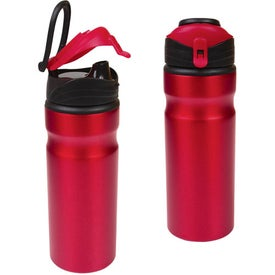 Aluminum Water Bottle With Snap Cap Imprinted with Your Logo