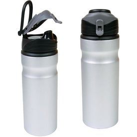 Aluminum Water Bottle With Snap Cap Printed with Your Logo