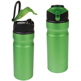 Aluminum Water Bottle With Snap Cap (24 Oz.)