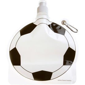 Advertising HydroPouch Soccer Ball Collapsible Bottle