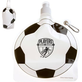 HydroPouch Soccer Ball Collapsible Bottle (24 Oz.)