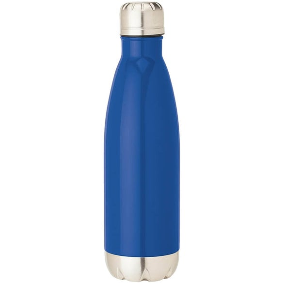 Blue Solana Stainless Steel Vacuum Bottle