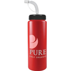 Sport Bottle with Straw Cap for Promotion