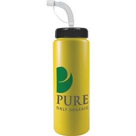 Sport Bottle with Straw Cap for Your Organization