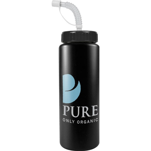 Promotional Sport Bottle with Straw Caps with Custom Logo ...