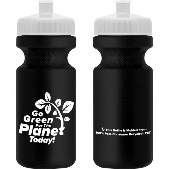 Eco Black Recycled BPA Free Sports Bottle