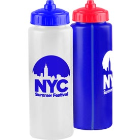Imprinted Sports Bottle with Mighty-Shot Valve Lid