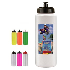 Bottle with Push-Pull Cap (32 Oz., Digital Print)