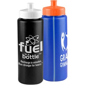 Sports Premium Bottle with Push-Pull Lid (32 Oz.)