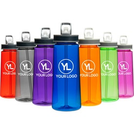 Sports Water Bottle with Straw (22 Oz.)