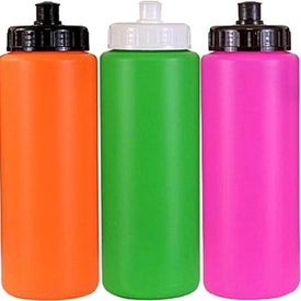 Customized Sports Bottle with Push 'n Pull Cap