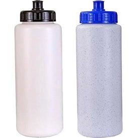 Custom Sports Bottle with Push 'n Pull Cap