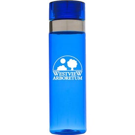 Sports Bottle with Metallic Ring Imprinted with Your Logo