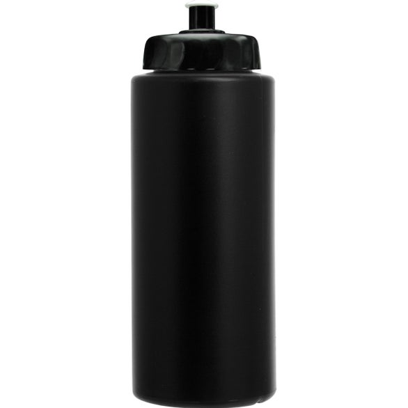 Black Sports Bottle With Push/Pull Lid