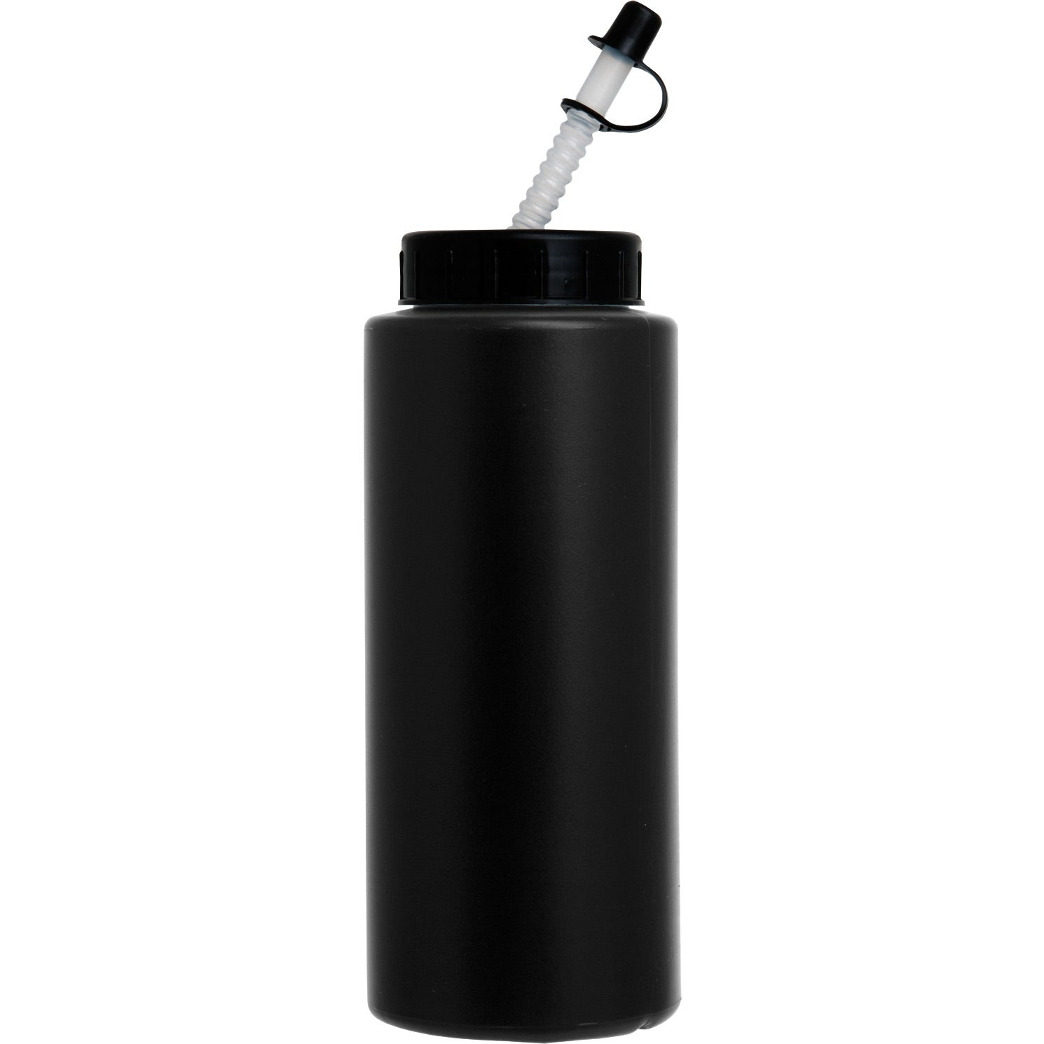 Sports Bottle with Flex Whistle Straw Lid (32 Oz.)