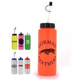 Sports Bottle w/Flexible Straw for Marketing