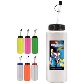 Sports Bottle w/Flexible Straw (32 Oz, Dig. Print)