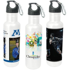 Stainless Bottle with Carabiner (25 Oz.)