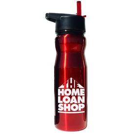 Printed Stainless Steel Drink Bottle With Flip Top