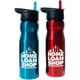 Branded Stainless Steel Drink Bottle With Flip Top