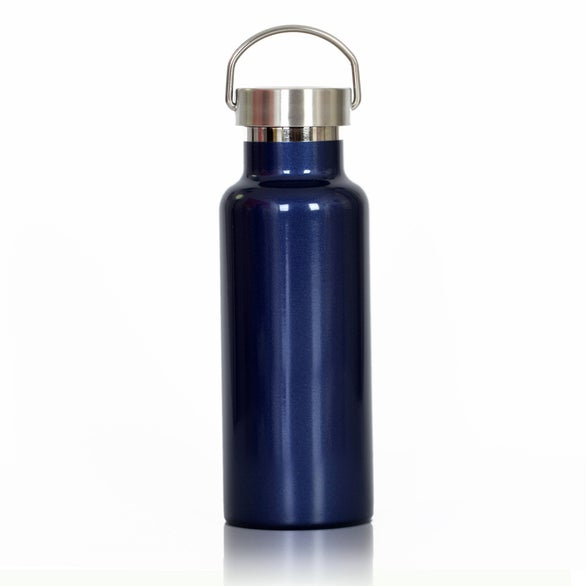 Blue Stainless Steel Canteen Water Bottle