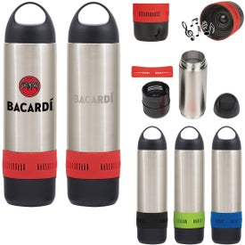 Stainless Steel Rumble Bottle with Speaker (17 Oz., 300 mAh)