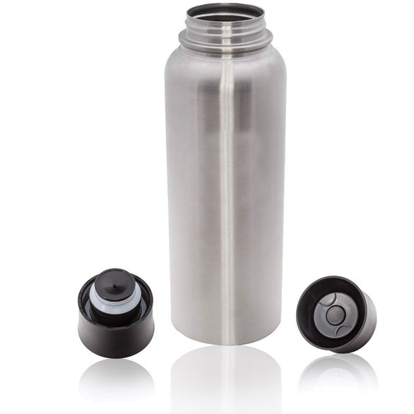 Silver Stainless Steel Sports Bottle