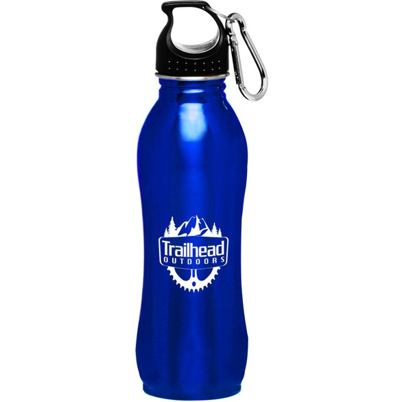 Blue Stainless Steel Sports Water Bottle