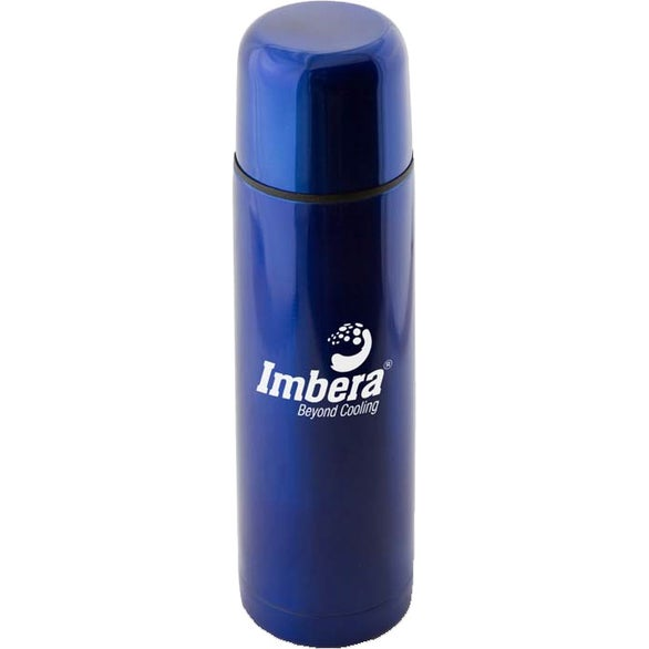 Blue Stainless Steel Thermo Bottle with Case