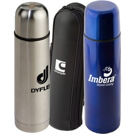 Stainless Steel Thermo Bottles with Case (16.9 Oz.)