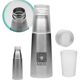 Stainless Steel Water Bottle with Cup (17 Oz.)
